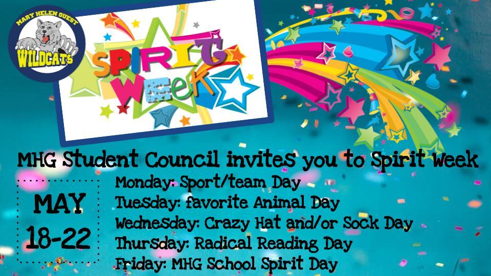 SPIRIT WEEK MAY 18-22